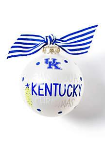 Kentucky We Wish You Glass Ornament