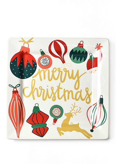COTON COLORS Vintage Ornament Square Platter