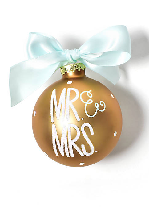COTON COLORS Mr. and Mrs. Glass Ornament