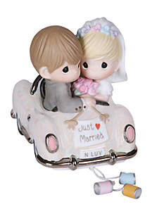 Bride And Groom In Car Figurine