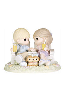 Always Be By My Side Bisque Porcelain Figurine