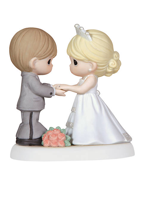 Wedding Couple Holding Hands Figurine