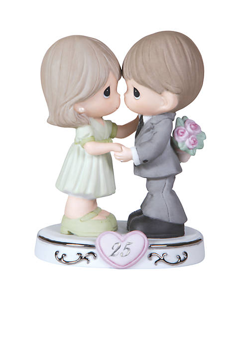 Through The Years - 25th Anniversary Bisque Porcelain Figurine