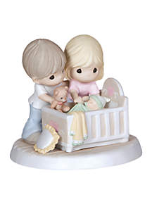 We're Glad You Came Into Our Lives Bisque Porcelain Figurine Family
