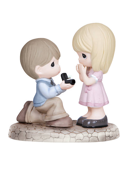 Precious Moments Boy Proposing To Girl Figurine