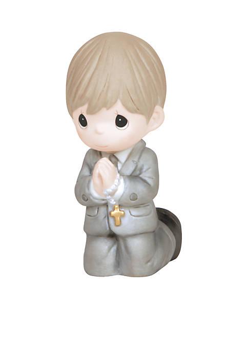 Precious Moments Boy Kneeling Communion Figurine