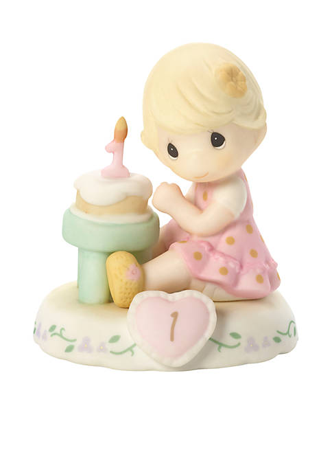 Girl With Cake Age 1 Figurine