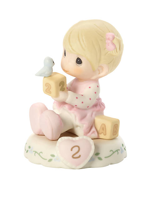Precious Moments Girl With Blocks Age 2 Figurine