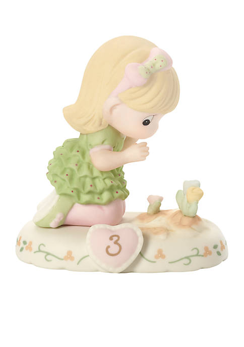 Girl With Flowers Age 3 Figurine