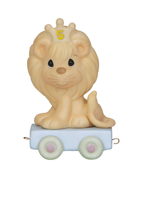 Precious Moments Birthday Train Lion Age 5 Figurine