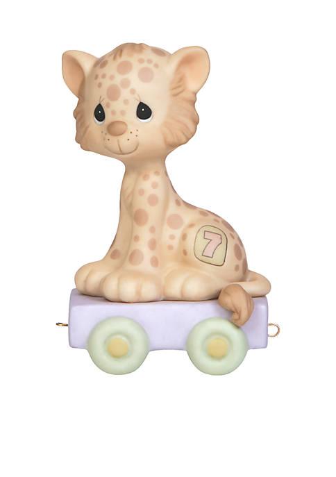 Precious Moments Birthday Train Leopard Age 7 Figurine