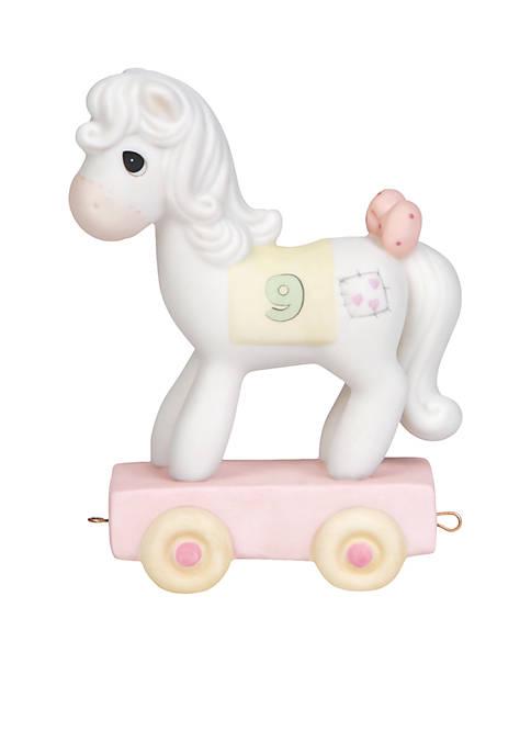 Birthday Train Horse Age 9 Figurine