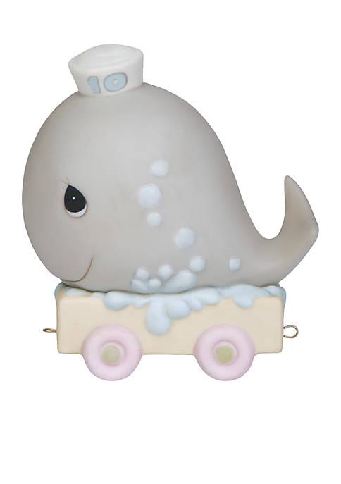 Birthday Train Whale Age 10 Figurine