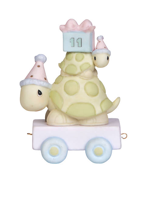 Birthday Train Turtle Age 11 Figurine
