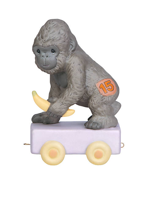 Precious Moments Birthday Train Gorilla Age 15 Figurine