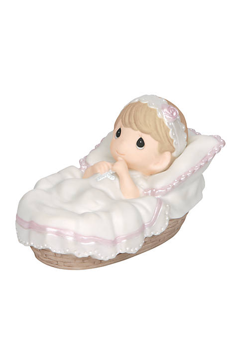 Precious Moments Baby Girl Baptism Figurine