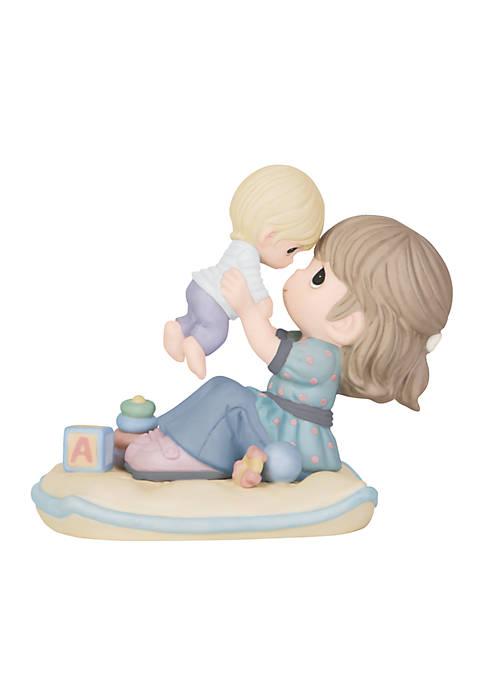 Mom Holding Baby Up Figurine