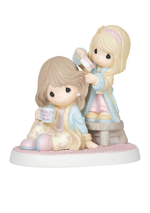 Precious Moments Girl Brushing Moms Hair Figurine