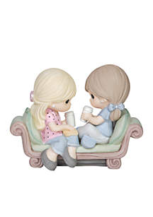 Our Friendship Is The Perfect Blend Bisque Porcelain Figurine