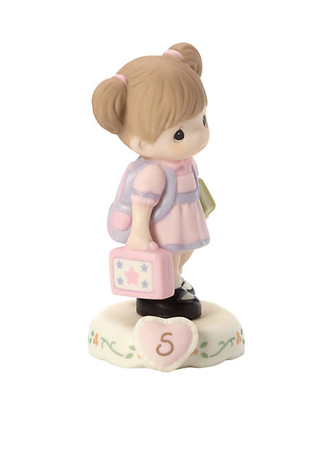 Precious Moments Girl With Books Age 5 Figurine