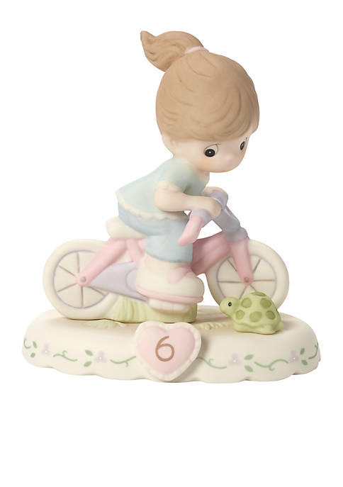 Precious Moments Girl On Bicycle Age 6 Figurine