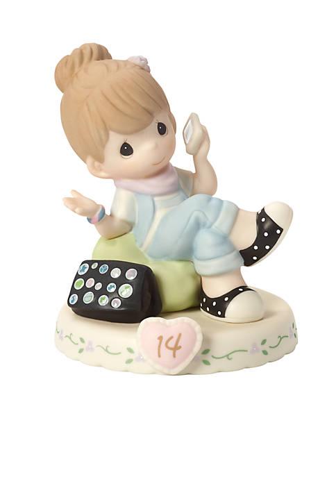 Precious Moments Girl On Phone Age 14 Figurine