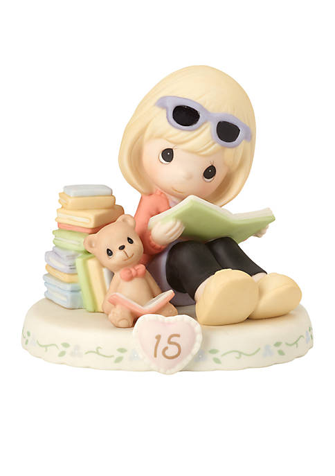 Girl With Books Age 15 Figurine Blonde