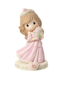 Girl In Tiara With Bouquet Age 16 Figurine Brunette