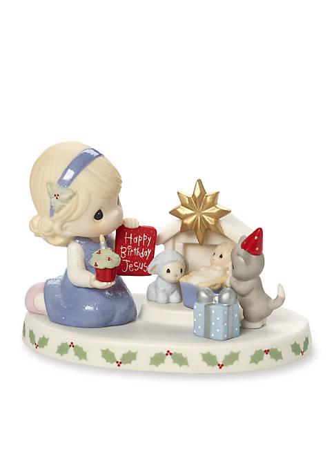 Precious Moments Happy Birthday, Jesus Bisque Porcelain Figurine