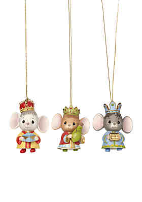 f5ff0b766 Precious Moments Precious Moments The Holidays Are Mice With You Set Of  Three Bisque Porcelain Ornaments