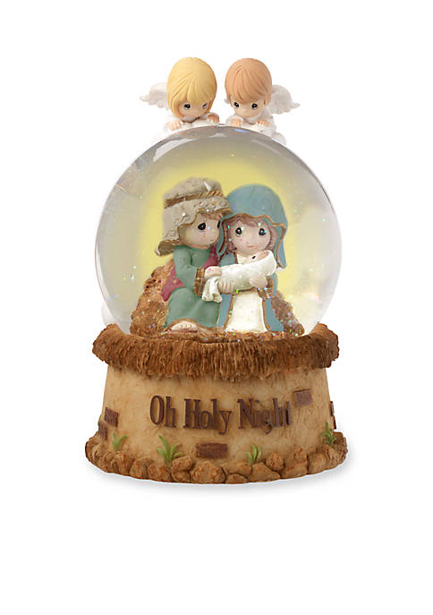 Precious Moments, Oh Holy Night Musical Resin/Glass Snow Globe