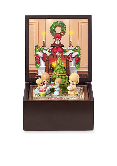 Ne'Qwa Art PM Family Christmas Music Box Lighted