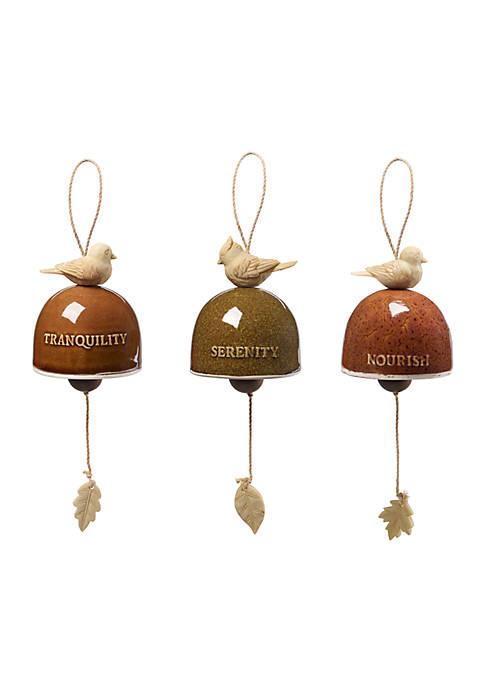 Precious Moments Set of 3 Bird Bell Ornaments