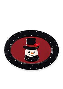 Snow Much Fun by Precious Moments Snowman Platter