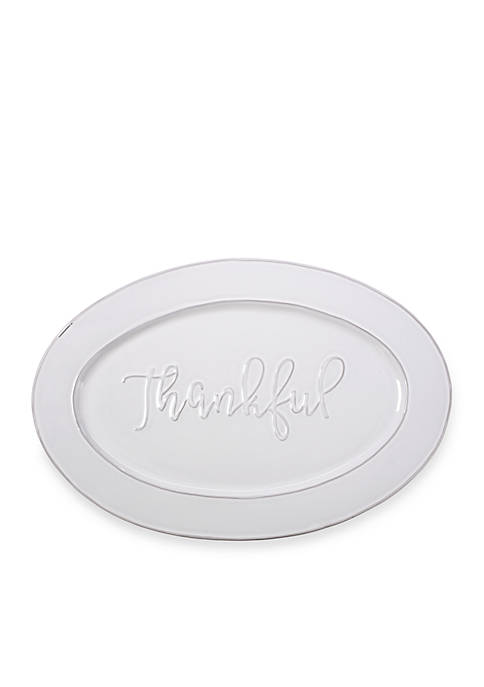 Bountiful Blessings by Precious Moments Thankful Ceramic Serving Platter