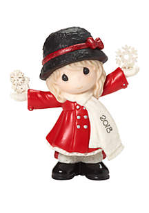Dated 2018 Girl Figurine