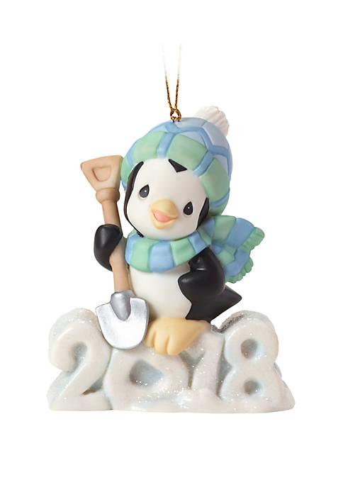 Precious Moments Dated 2018 Penguin Ornament