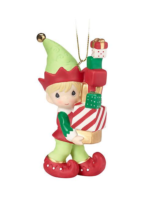 Precious Moments Elf Ornament
