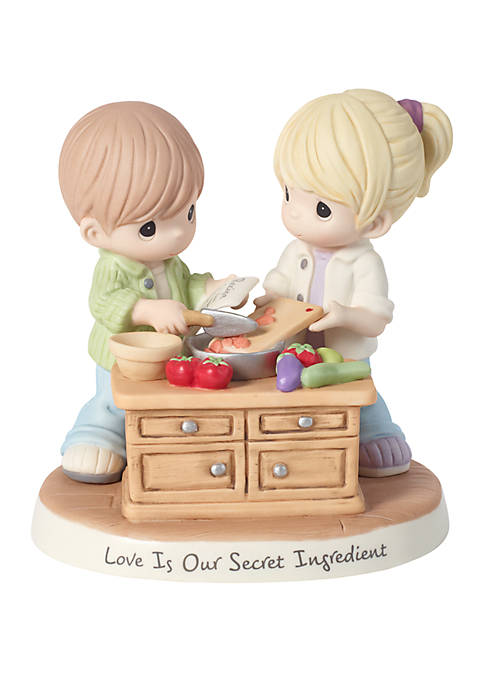 Precious Moments Couple Cooking Together Figurine