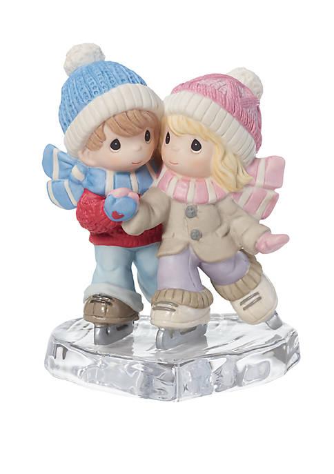 Couple Ice Skating Together Figurine