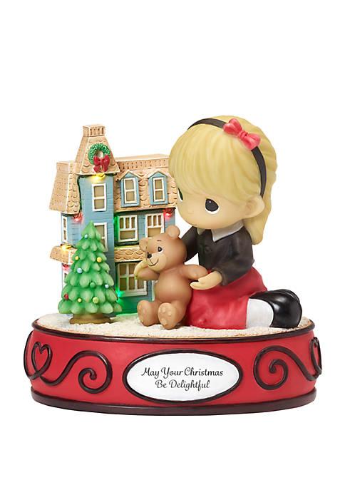 Precious Moments Girl With Dollhouse LED Musical Figurine