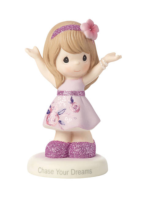 Inspirational Girl Bisque Porcelain Chase Your Dreams Figurine