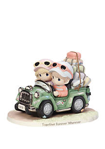 Precious Moments Limited Edition Together Forever Wherever Bisque Porcelain Loving Couple In SUV Figurine
