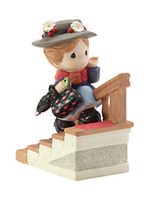 Precious Moments Disney Showcase Mary Poppins Bisque Porcelain You Have Such A Cheery Disposition Figurine 182093