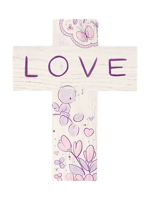 Precious Moments Love Wood Wall Cross 182411