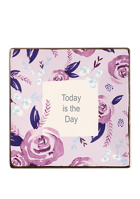 Precious Moments Inspirational Girl Ceramic Today Is The Day Trinket Tray 182416