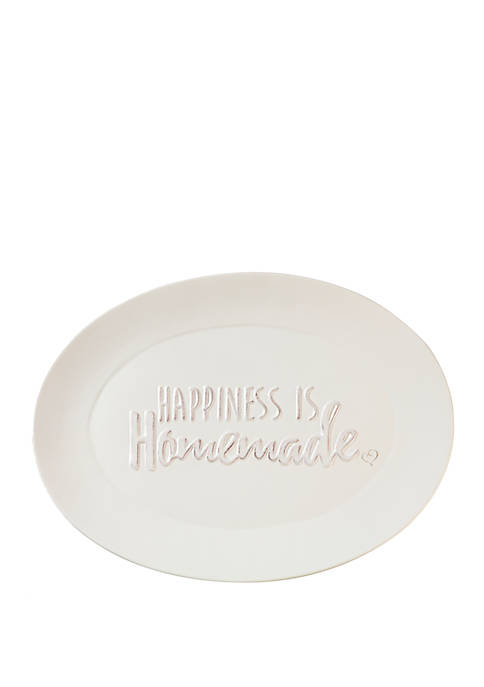 Bountiful Blessings Ceramic Happiness Is Homemade Serving Platter 182423