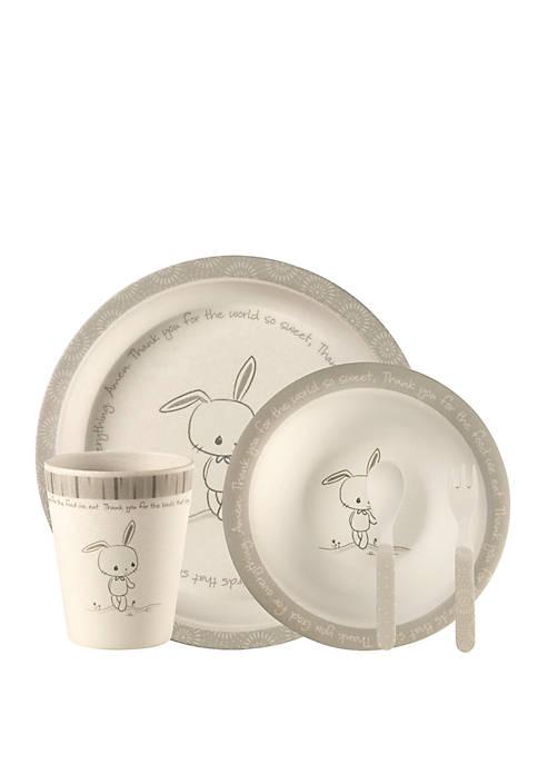 Precious Moments 5 Piece Bamboo Bunny Mealtime Gift