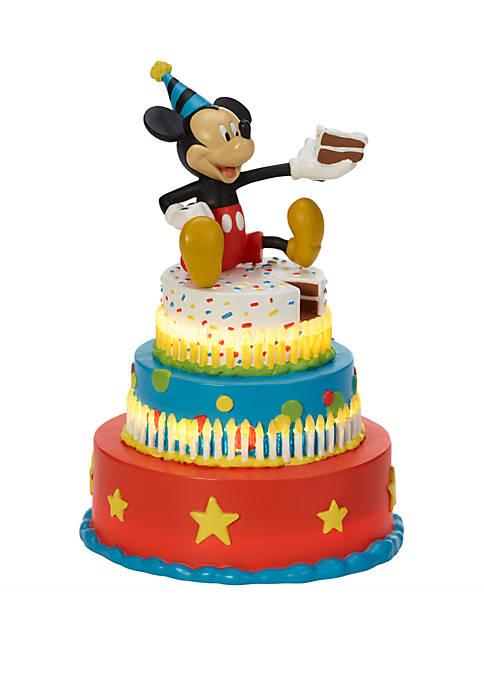 Precious Moments Disney Showcase Mickey Mouse Birthday Cake