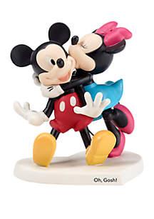Precious Moments Disney Showcase Mickey and Minnie Bisque Porcelain Oh Gosh! Figurine 182704